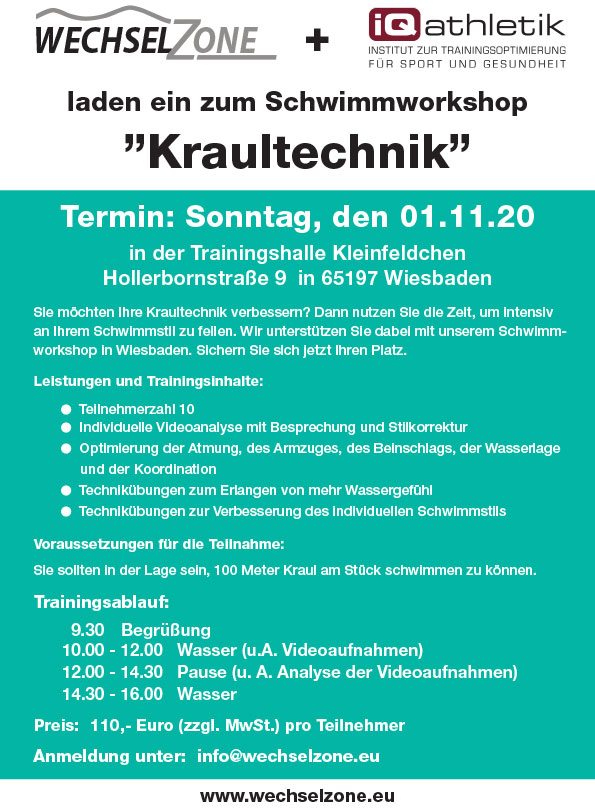 "Schwimmworkshop ""Kraul-Technik"""